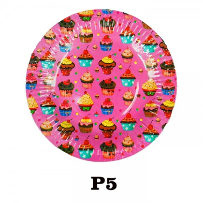 """Round Paper Dishes Party Plates 7"""" (20pcs/pkt)"""