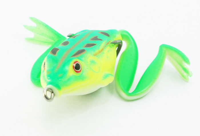 Spider King Long Foot Rubber Frog With Spinner Bait Lure Fishing Hook