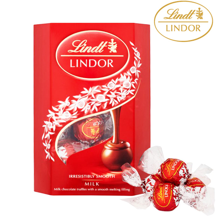 Lindt Lindor Milk Chocolate Truffles Carton 200G