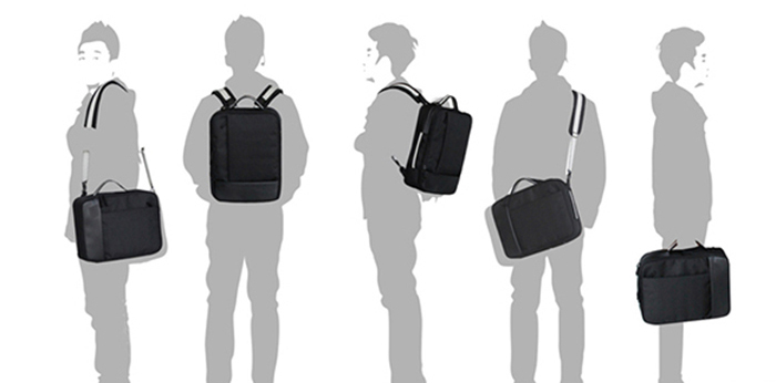 APolo 99177DCB 3-Way Business Style Laptop Backpack Tag Tablet Sling Grab Handle Bag