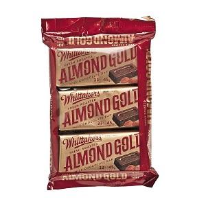 Whittaker's Fresh Roasted Almond Gold Milk Chocolate Bar 135G