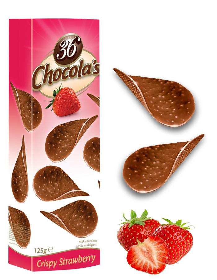 Chocola's CrispyStrawberry CrunchyMilkChocolate 125G