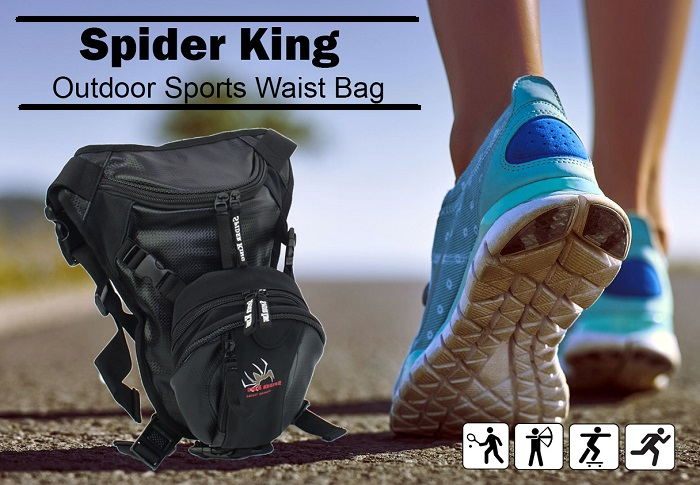 Spider King Multi Function Tight Outdoor Sports Waist Bag