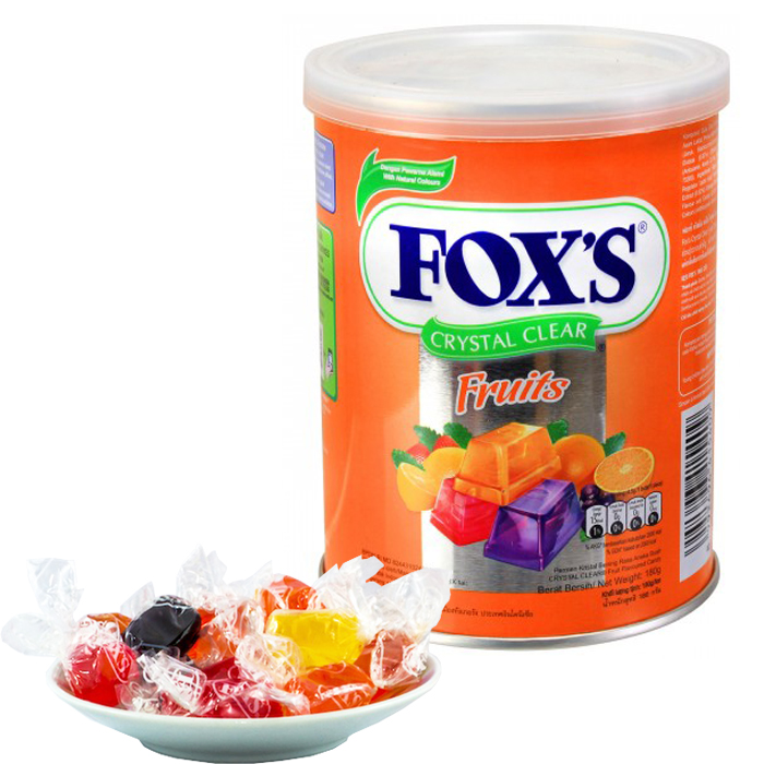Nestle Fox's Crystal Clear Mix Fruits Flavored Candy 180G