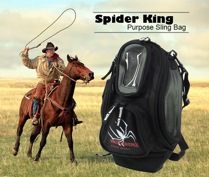 Spider King Multi Outdoor Sports Camping Purpose Sling Bag