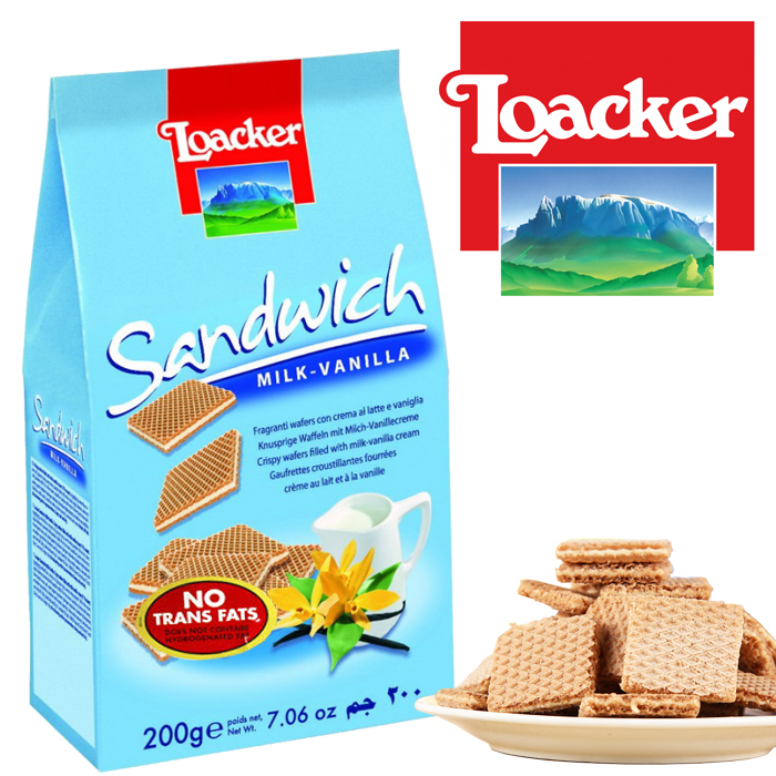 Loacker Sandwich Milk-Vanilla 200G