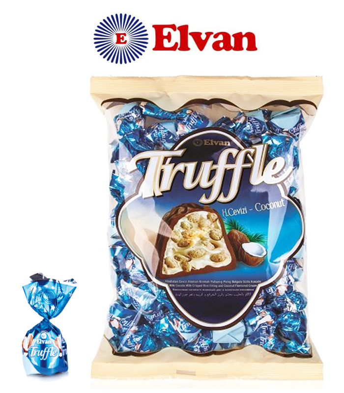 Elvan Truffle Coconut Chocolate 500G