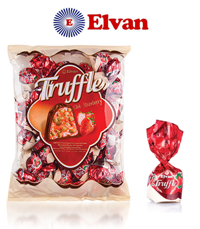Elvan Truffle Strawberry Chocolate 500G