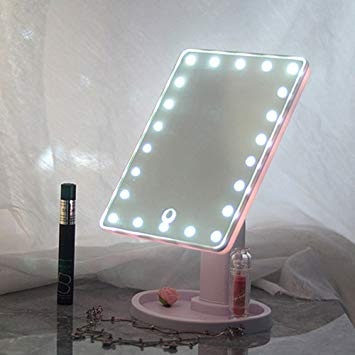 Beauty LED Touch Screen Makeup Mirror 16 LED Lighted Makeup Cosmetic Mirror