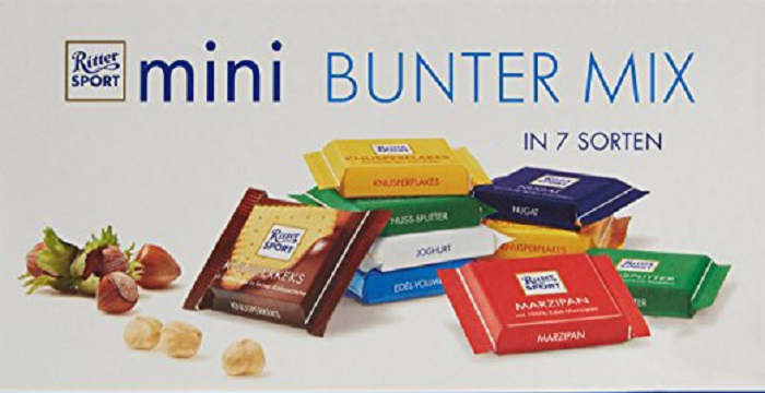 Ritter Sport Mini Chocolate Mix 150G (9 x 16.67G)