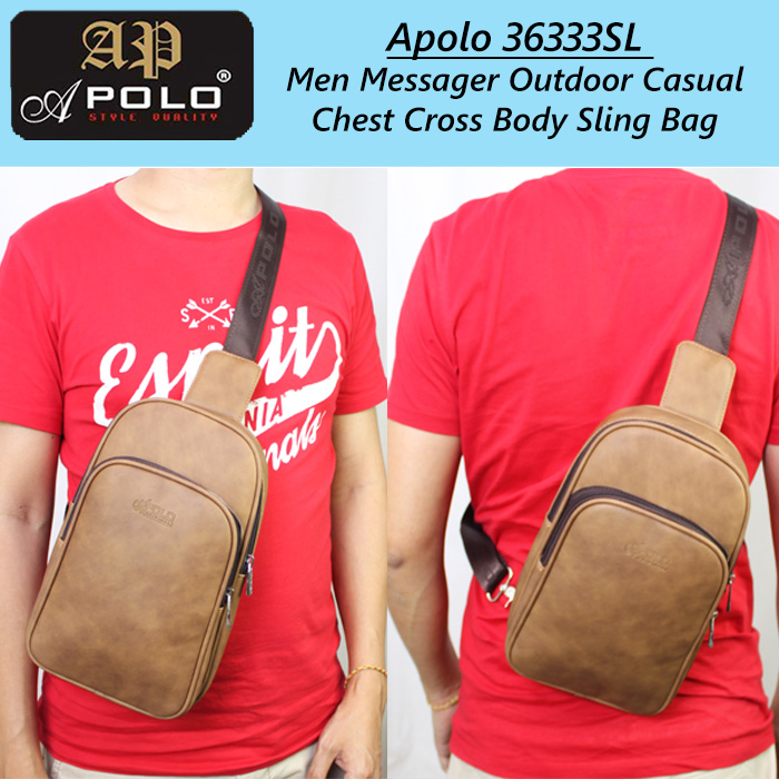 Apolo 36333SL Men Messager Outdoor Casual Chest Cross Body Sling Bag