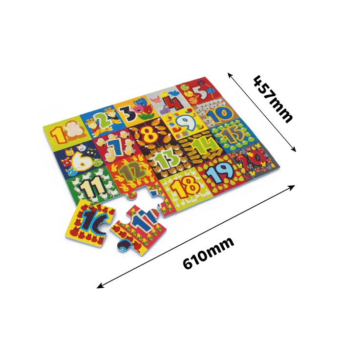 Sunta 3252 Numbers Jigsaw Puzzle 24 pieces
