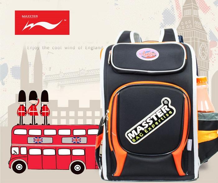 Masster 37642SCB 3D Spinal Protection Panel Kids Children School Backpack Bag