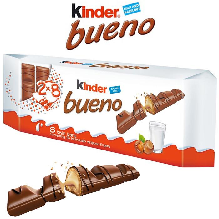 Kinder Bueno 8 Twin Bars 344G (8 x 43G)