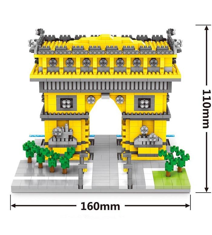Wise Hawk 2457 Arc de Triomphe 3D Building Block DIY Toy Gift