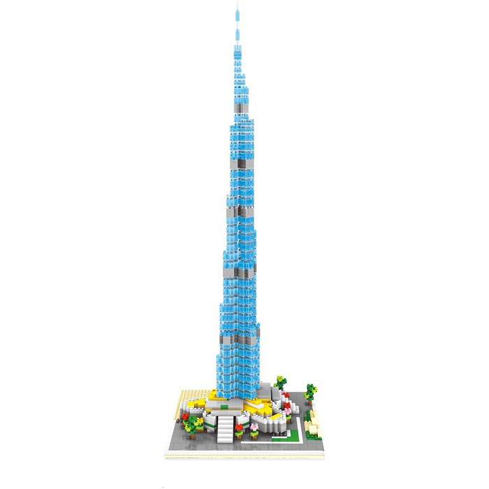 Wise Hawk 2458 Burj Khalifa Tower 3D Building Block DIY Toy Gift