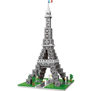 Wise Hawk 2465 Eiffel Tower 3D Building Block DIY Toy Gift