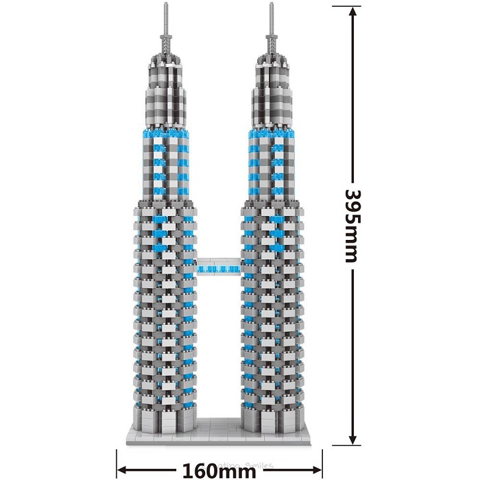 Wise Hawk 2464 Petronas Twin Towers Kuala Lumpur 3D Building Block DIY Toy Gift