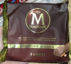 Magnum Chocolate Almond 3 x Bars 93G (3 x 31G)