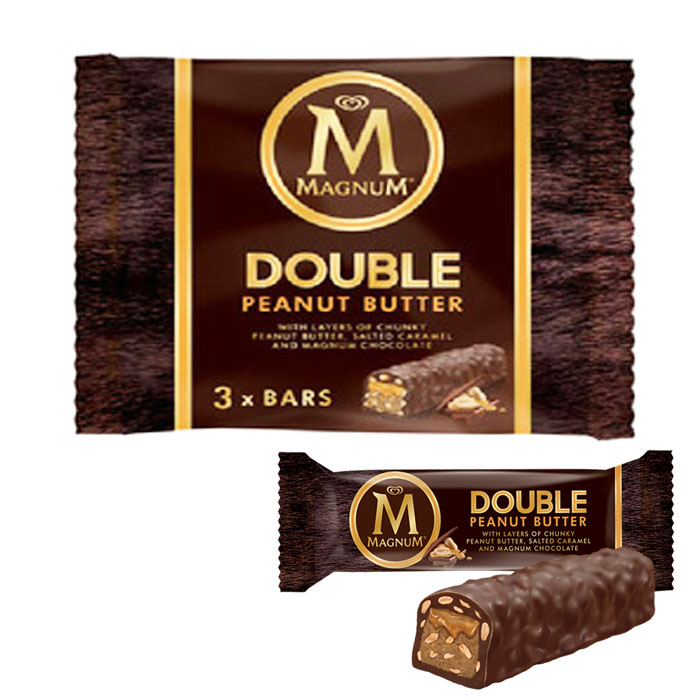 Magnum Double Peanut Butter 3 x Bars 117G (3 x 39G)