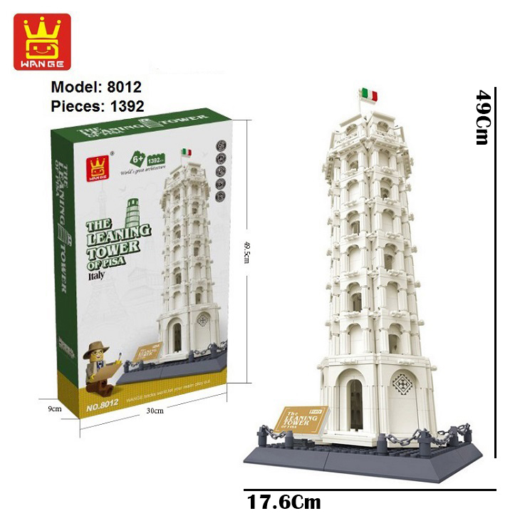 Wange 8012 The Leaning Tower of Pisa Italy 3D Building Block DIY Toy Gift