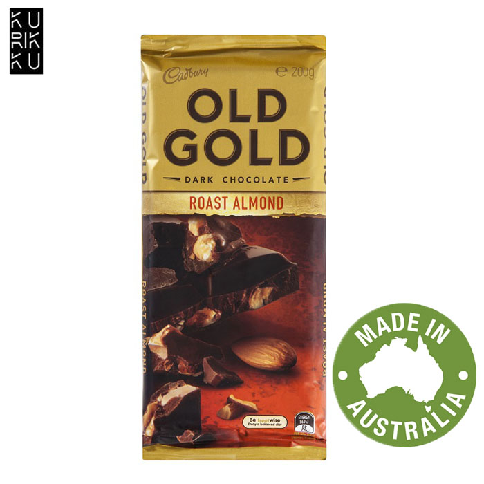 Australia Cadbury Old Gold Dark Chocolate Roast Almond 200G