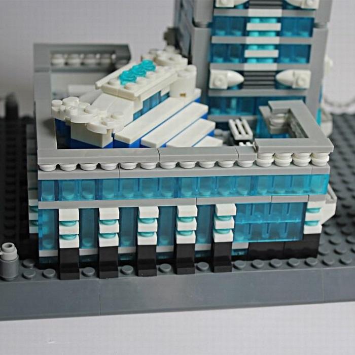 Wange 8019 The Taipei 101 of Taiwan China 3D Building Block DIY Toy Gift