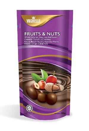 Vochelle Fruits & Nuts Chocolate 100G
