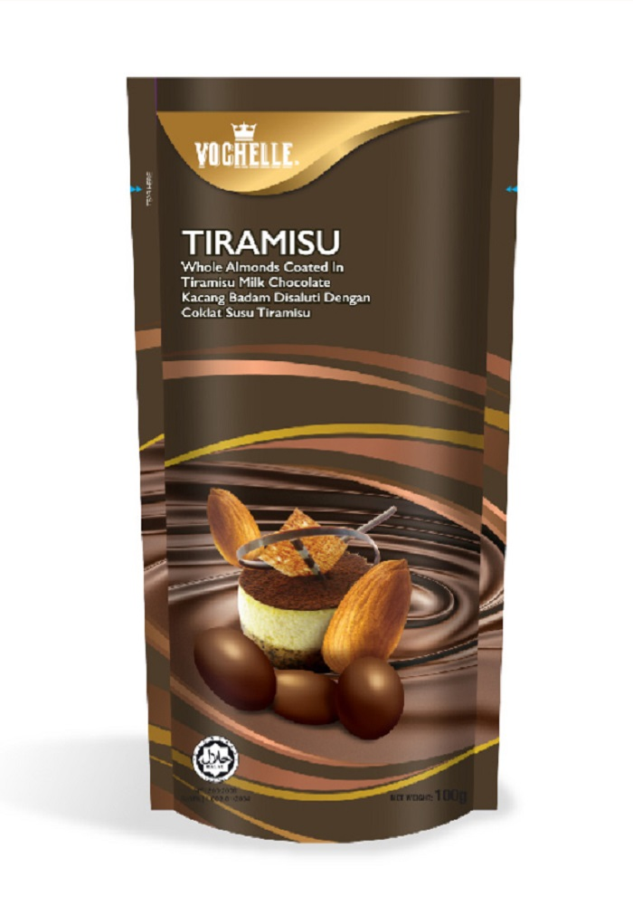 Vochelle Almonds Covernut Tiramisu Milk Chocolate 100G