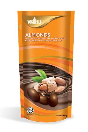Vochelle Almonds Milk Chocolate 100G