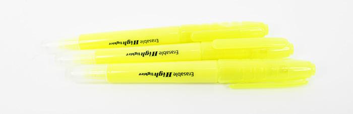 Erasable Fluorescent Highlighter Pen (3Pcs/Pkt)