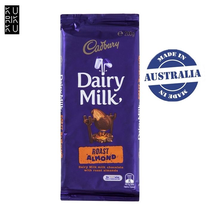 Australia Cadbury Dairy Milk Roast Almond Chocolate Bar 200G