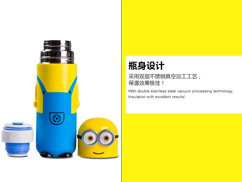 Minion Bullet Head Vaccum Flask Thermos Cup 350ml