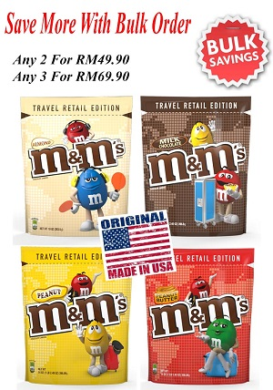 M&M Travel Retail Edition Peanut Butter Chocolate 396.9G