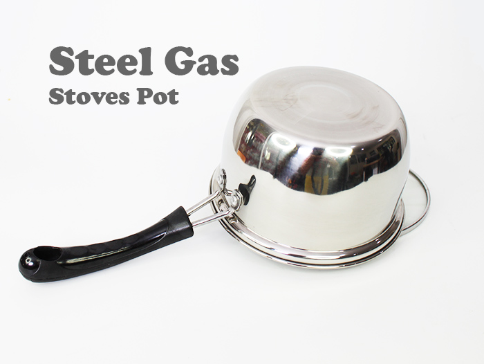 Stainless Steel Gas Stoves Handy Pot With Glass Cover
