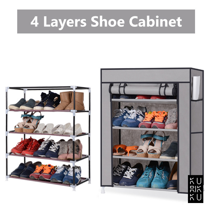 Shoes Cabinet 4 Layers Shoes Rack