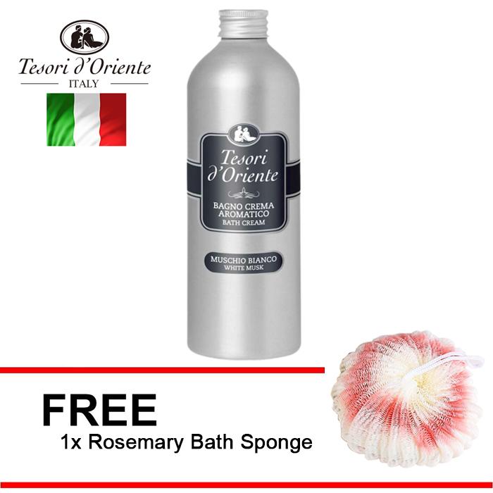 Tesori d'Oriente Bangno Crema Aromatico Bath Cream Muschio Bianco White Musk 500ml + Free Gift