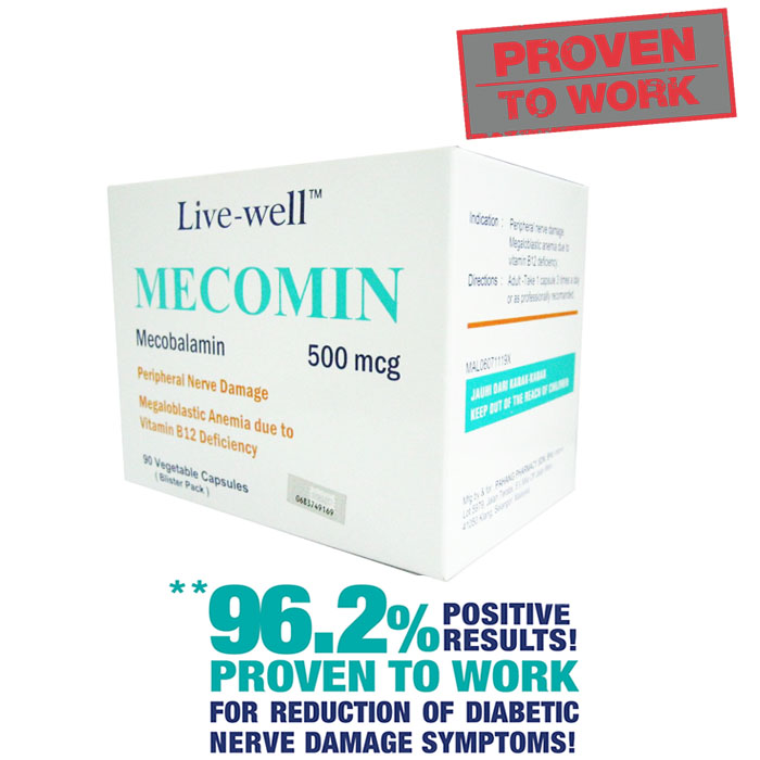 Live-Well Mecomin Mecobalamin 500mcg Value Pack 2 x 90's + 60's