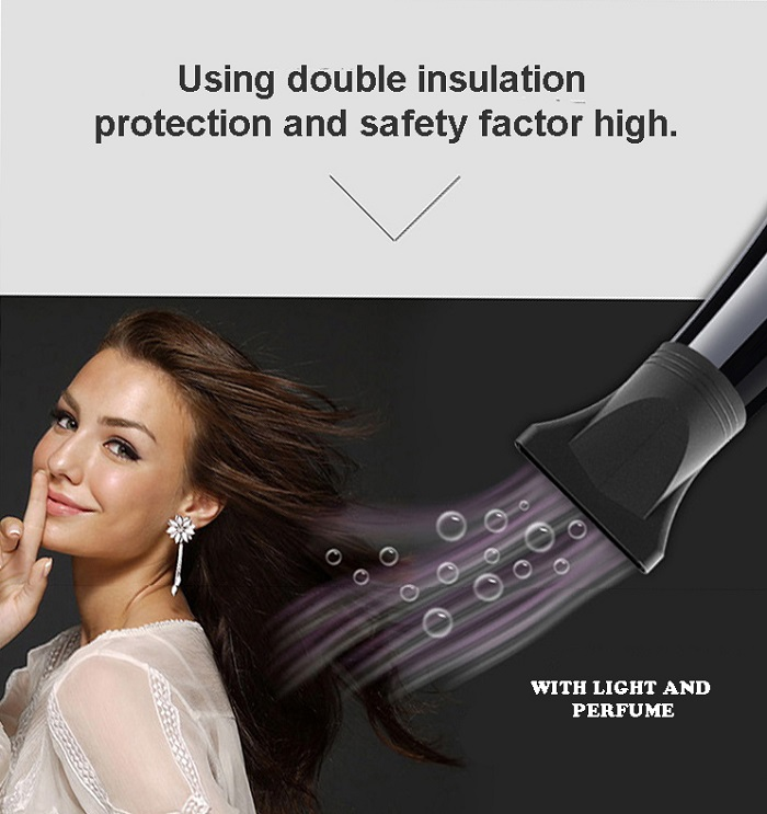 Sonar 3000W Wind Colour Professional Hair Dryer with Light SN-18
