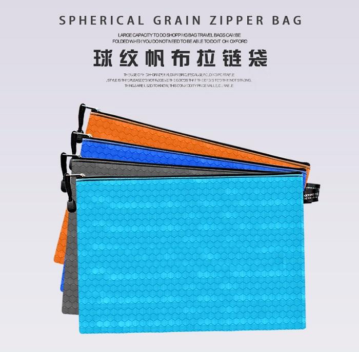 A4 Size Zippered Document Folder File Bags (12pcs/ pkt)