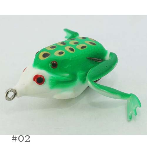 Spider King Mammy Baby Rubber Frog With Spinner Bait Lure Fishing Hook