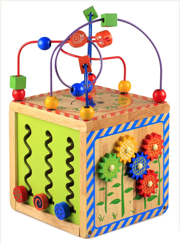 Kid Wooden Multi-function Treasure Chest Big Bead Toy