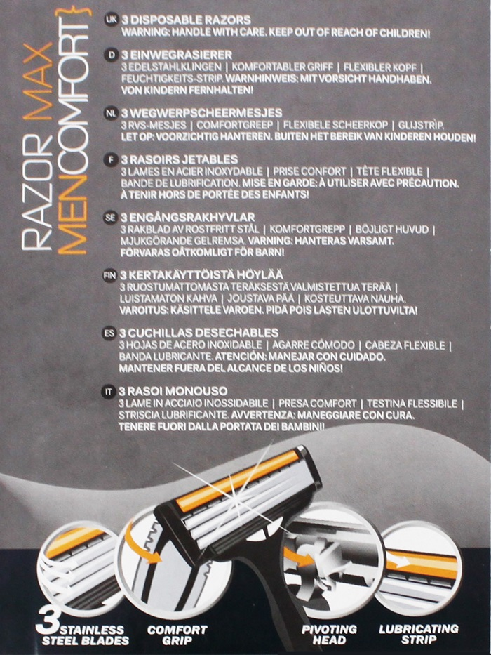 Razor Max Disposable Razor (3Pcs x 4)