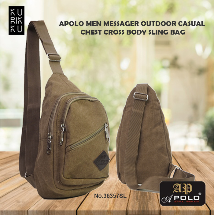 Apolo 36357SL Men Outdoor Casual Chest Cross Body Sling Bag