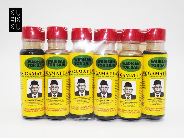 Tradisional Minyak Gamat Asli Warisan Saju Langkawi Small 30ml x 12Btl