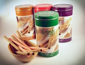 Redondo Luxury Cream Wafers Green Tea Flavoured Cream 350g