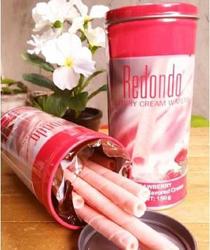 Redondo Luxury Cream Wafers Strawberry Flavoured Cream 125g / 400g