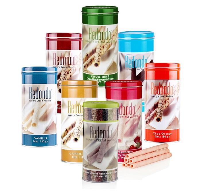 Redondo Luxury Cream Wafers Vanilla  Flavoured Cream 125g / 400g