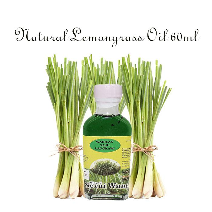 Warisan Saju Langkawi Minyak Serai Wangi Lemongrass Oil 60ml
