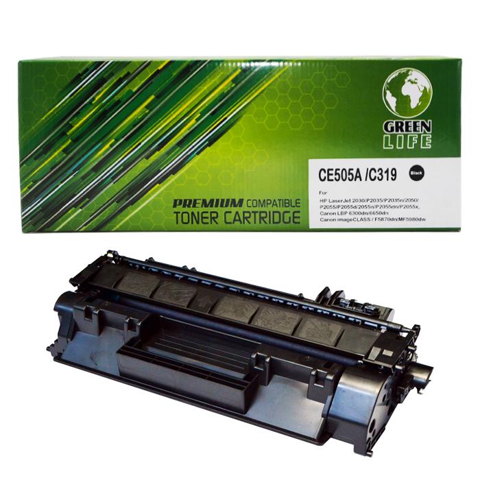 Green Life Premium Compatible Toner Cartridge CE505A / C319